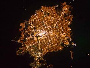 Лас-Вегас - самое яркое пятно на Земле.