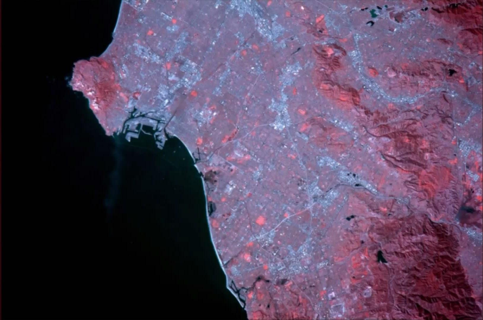 Лос-Анджелес, ИК-изображение