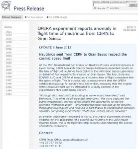 CERN пресс-релиз