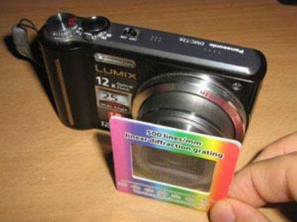 Дифракционная решетка для объектива цифровой камеры