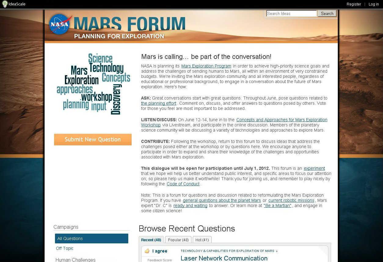 «Марс зовет... участвуйте в беседе!»