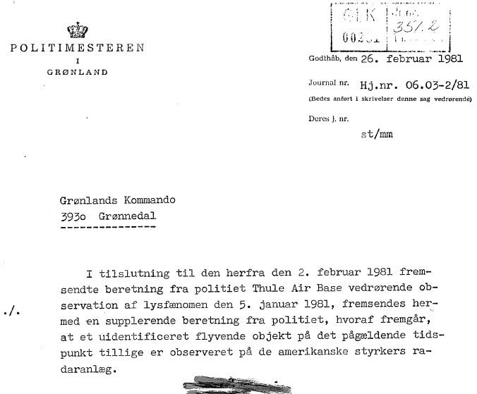 Загадочные явления над Гренландией и другими территориями Дании - в рубрике раритет
