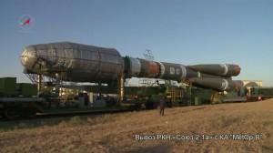 Вывоз РКН «Союз-2.1а» с КА «МетОп-Б»
