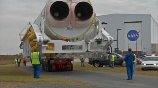 Вывоз ракеты «Антарес»