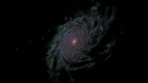 Компьютерная модель образования дисковой галактики