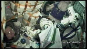 Видеозапись пуска РКН «Союз-ФГ» с ТПК «Союз ТМА 06-М»