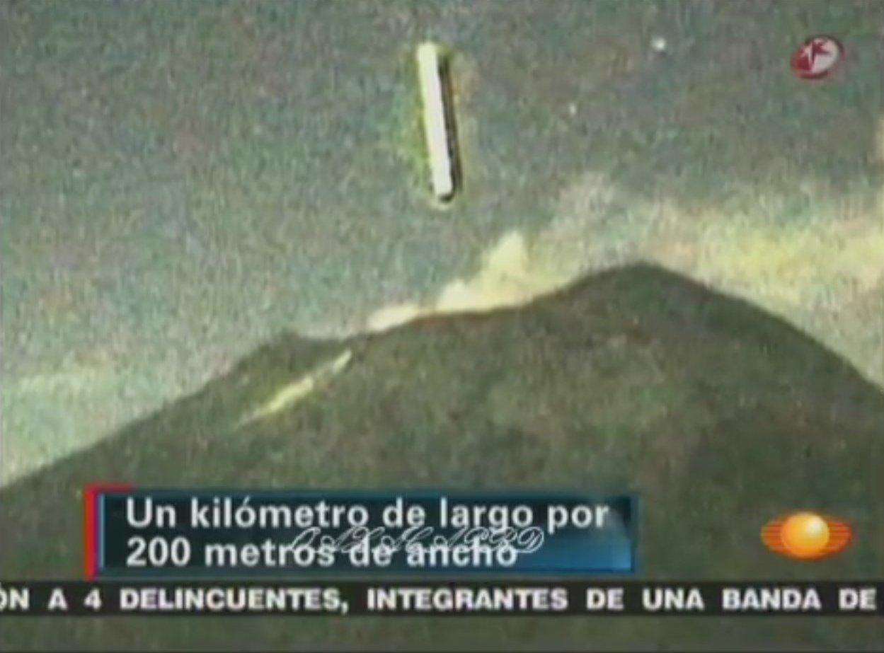 В мексиканский вулкан Попокатепетль НЛО не влетало