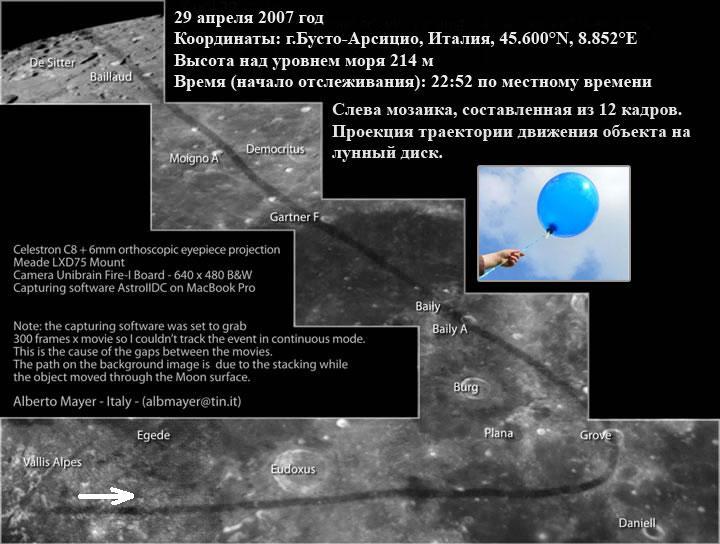 Воздушный шарик на Луне