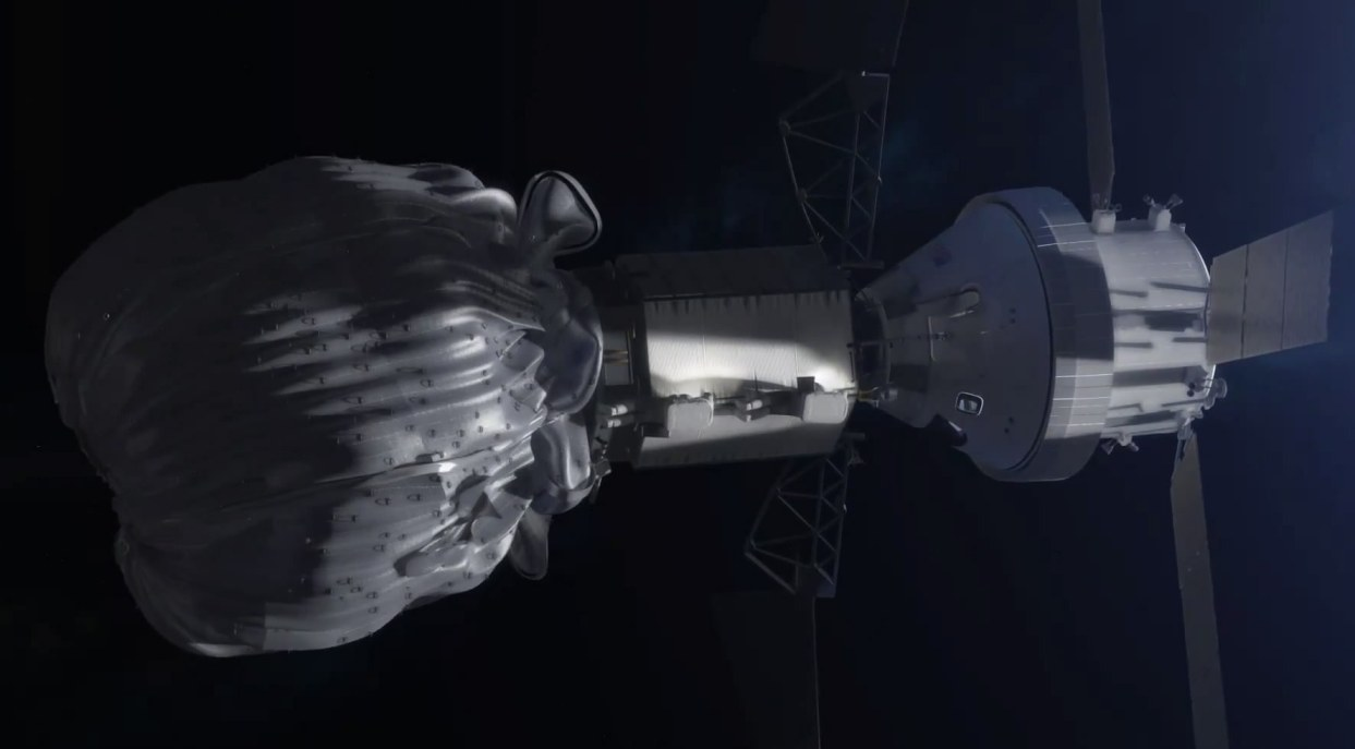Миссия НАСА по захвату астероида. Анимация