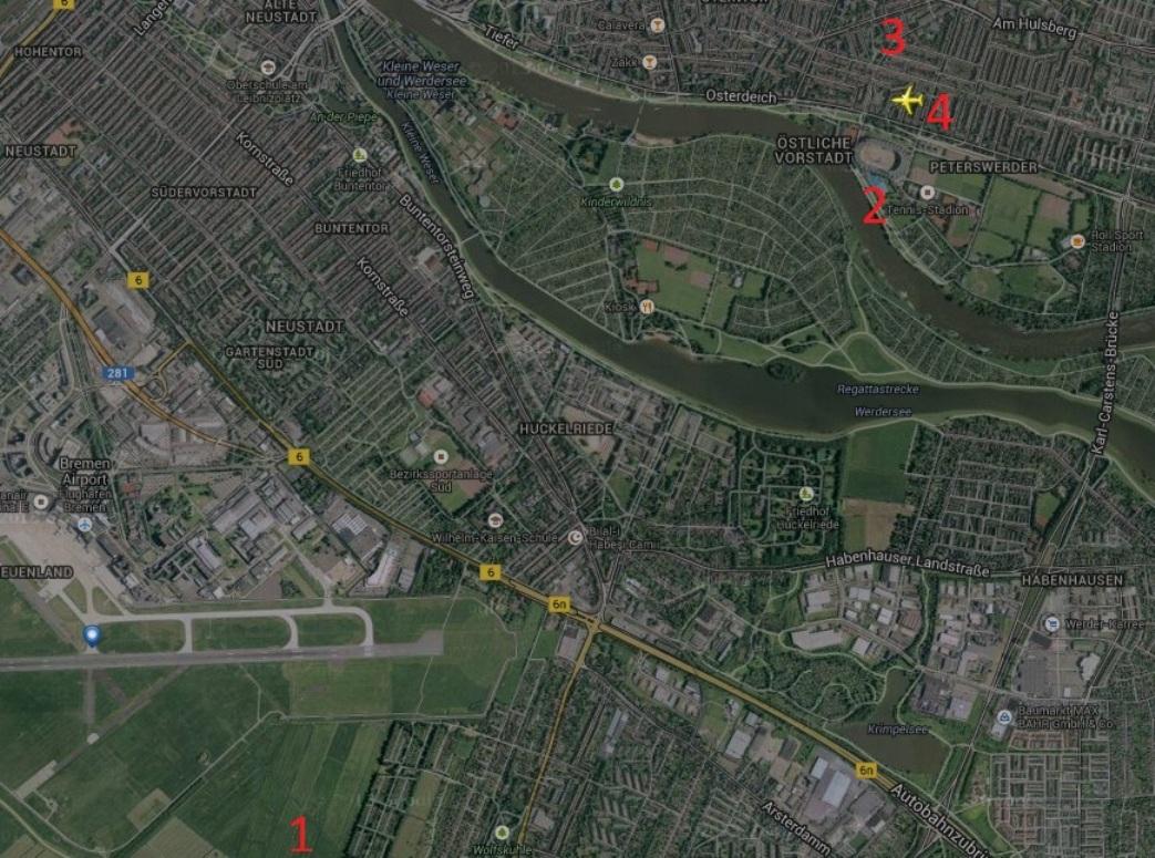 Расположение объектов на карте