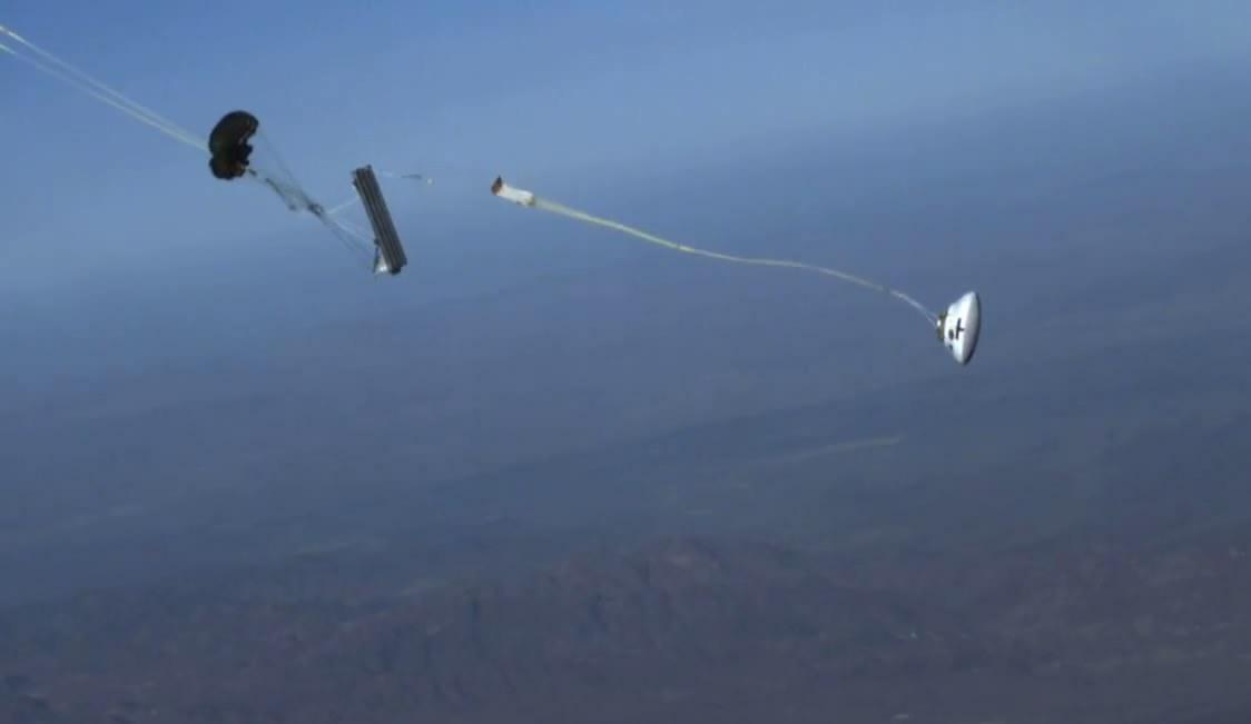 Тест парашютов «Ориона» в аварийных условиях