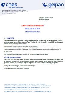 GEIPAN — пакет документации за декабрь 2014