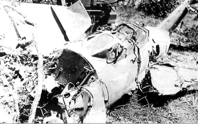 Остатки самолета Ю.Гагарина после падения