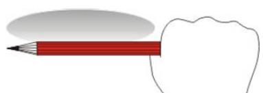 Определение углового размера с помощью карандаша