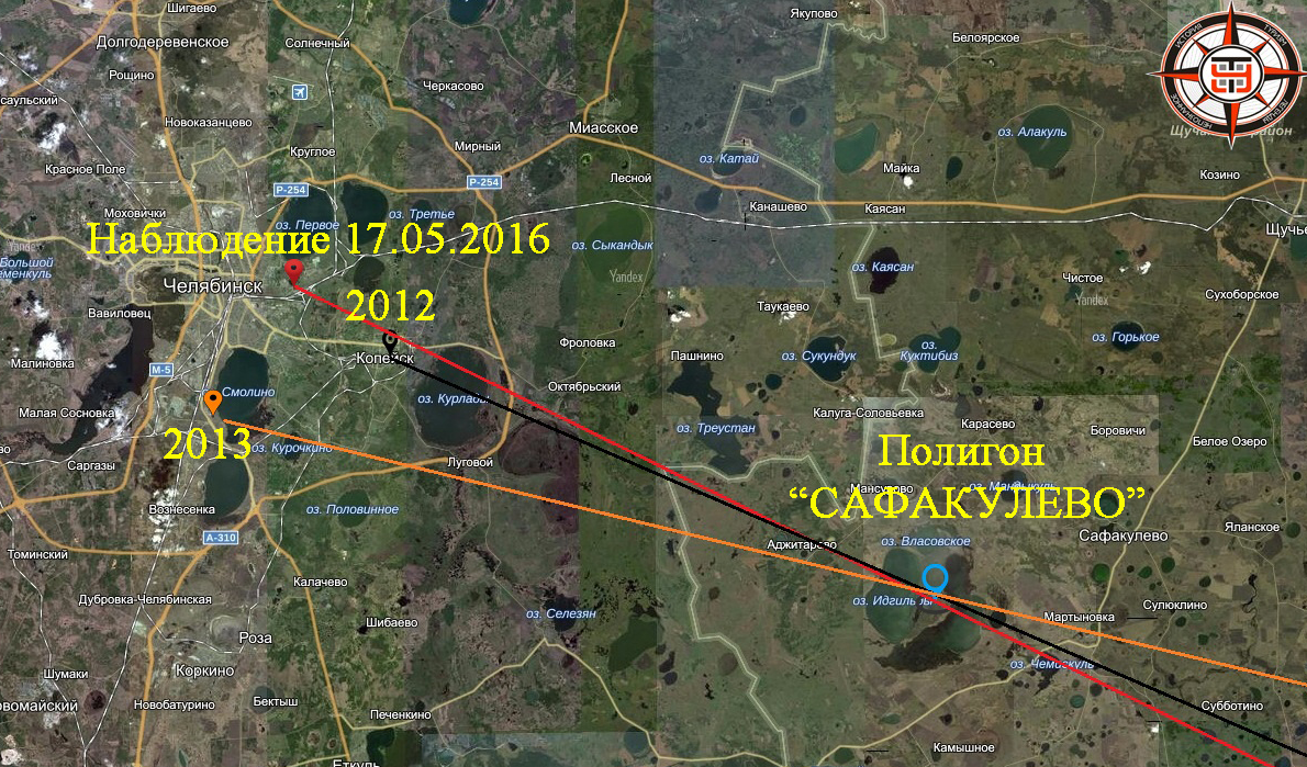 Направление на полигон «Сафакулево»