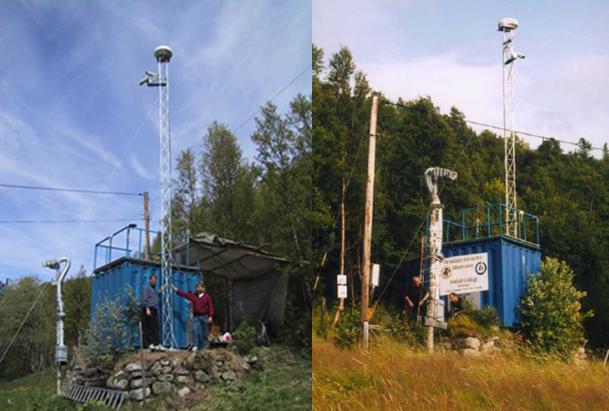 """Пример СМК """"Blue Box"""" для фиксации ААЯ в долине Хессдален, Норвегия"""