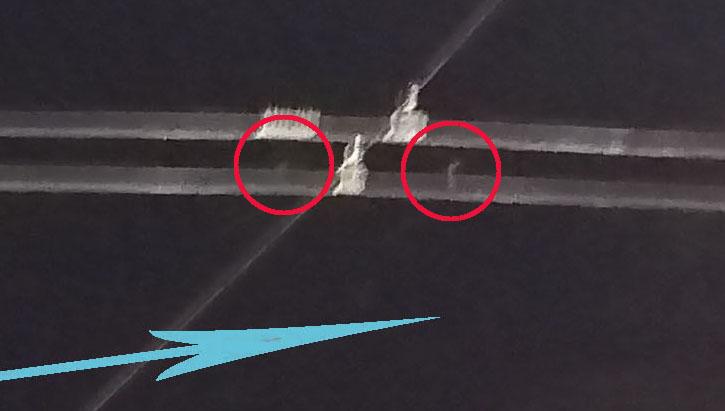 Рис.9. Объекты также видны на первом кадре; увеличено